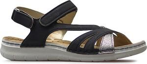 Sandały Inblu z płaską podeszwą ze skóry ekologicznej w stylu casual