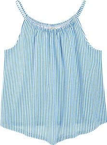 Niebieska bluzka dziecięca Cool Club dla dziewczynek w paseczki