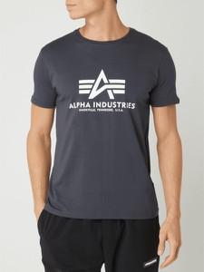 T-shirt Alpha Industries z bawełny z krótkim rękawem