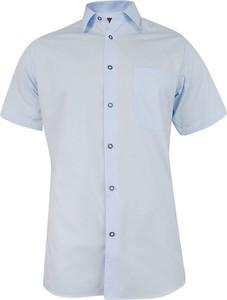 Niebieska koszula Jurel w stylu casual z klasycznym kołnierzykiem