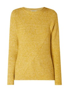 Żółty sweter Pieces w stylu casual
