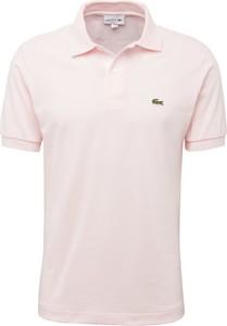 Różowy t-shirt Lacoste z dżerseju
