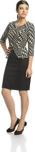 Sukienka Fokus w stylu klasycznym baskinka midi