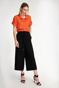Czarne spodnie Cotton Club w stylu retro z lnu