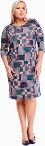 Sukienka Fokus z okrągłym dekoltem w stylu casual dla puszystych