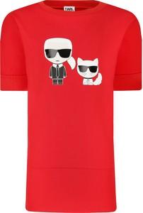 Czerwona koszulka dziecięca Karl Lagerfeld