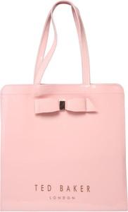 Różowa torebka Ted Baker w wakacyjnym stylu duża