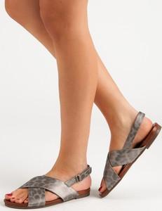 Brązowe sandały Czasnabuty z klamrami