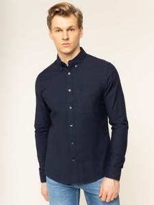 Granatowa koszula Calvin Klein z kołnierzykiem button down