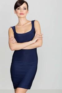 Granatowa sukienka Katrus mini dopasowana