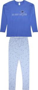 Niebieska piżama Sanetta z bawełny