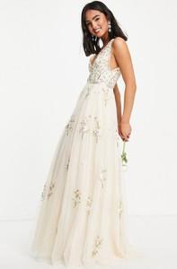 Sukienka Needle & Thread bez rękawów z dekoltem w kształcie litery v maxi