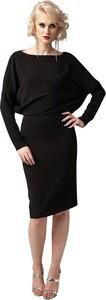 Sukienka fADD midi z tkaniny z długim rękawem