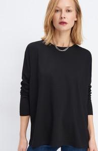 Czarna bluzka Mohito z długim rękawem
