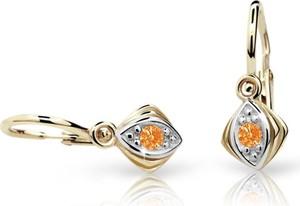 Cutie jewellery kolczyki dla dzieci cutie c1897 żółtego, orange, brizura