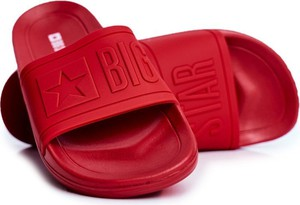 Czerwone buty letnie męskie Big Star