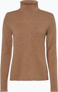 Brązowy sweter Marie Lund z kaszmiru w stylu casual