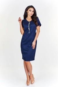 Sukienka Fokus z krótkim rękawem midi