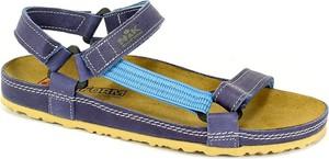 Fioletowe sandały NIK ze skóry