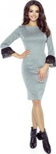 Sukienka Bergamo z długim rękawem ołówkowa
