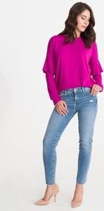 Bluzka Studio Erer z jeansu z okrągłym dekoltem w street stylu