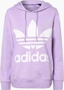 Fioletowa bluza Adidas Originals w sportowym stylu krótka