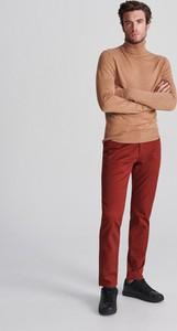 Czerwone spodnie Reserved z bawełny