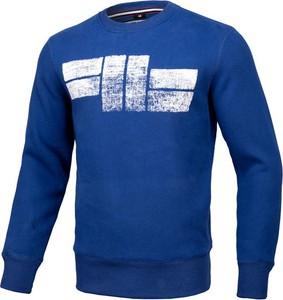 Niebieska bluza Pit Bull z bawełny w młodzieżowym stylu