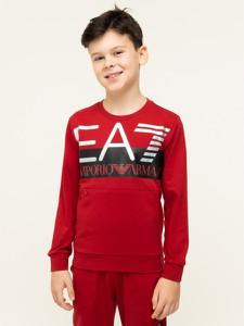Czerwona bluza dziecięca EA7 Emporio Armani