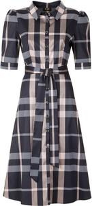 Sukienka Poza koszulowa midi z krótkim rękawem