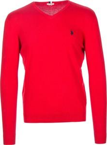 Sweter U.S. Polo z bawełny