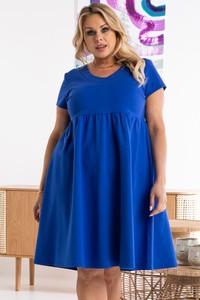 Niebieska sukienka KARKO oversize z dzianiny mini
