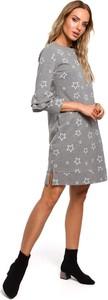 Sukienka Merg z długim rękawem z okrągłym dekoltem mini