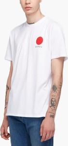 T-shirt Edwin z bawełny z krótkim rękawem
