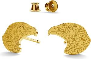 GIORRE SREBRNE KOLCZYKI ORZEŁ 925 : Kolor pokrycia srebra - Pokrycie Żółtym 24K Złotem