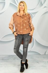 Koszula Made in Italy z kołnierzykiem z bawełny w stylu casual