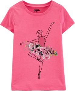 Koszulka dziecięca OshKosh z bawełny w kwiatki