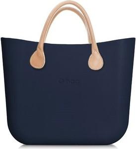 Niebieska torebka O Bag duża matowa