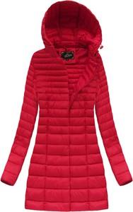 Czerwona kurtka Libland długa w stylu casual