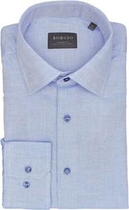 Koszula Borgio z bawełny z klasycznym kołnierzykiem
