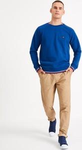 Granatowa bluza Diverse w stylu casual z dzianiny