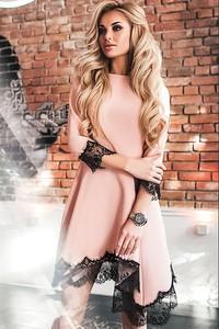 Różowa sukienka IVET.PL mini