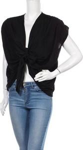 Czarna bluzka ZARA z krótkim rękawem