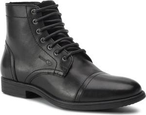 Czarne buty zimowe Geox z zamszu