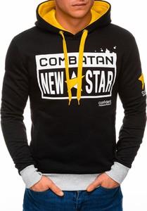 Czarna bluza Edoti w młodzieżowym stylu z bawełny