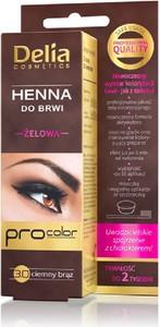 Delia Cosmetics, żelowa henna do brwi, 3.0 ciemno-brązowa