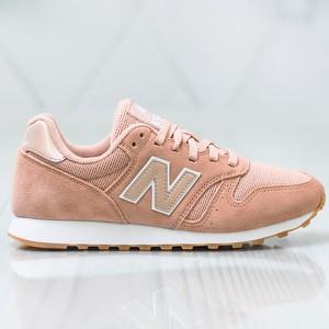 Różowe buty sportowe New Balance sznurowane 373