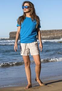 Niebieski t-shirt Nessi Sportswear z bawełny z okrągłym dekoltem
