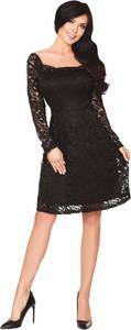 Sukienka MERRIBEL z dekoltem w karo z długim rękawem midi