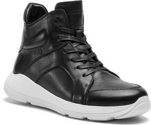 Czarne buty sportowe Kazar ze skóry w sportowym stylu